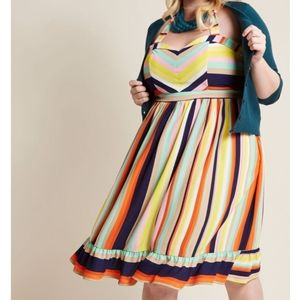 Modcloth Frequently Piquant Halter Dress
